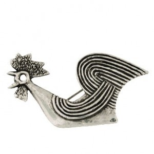Toulhoat Cock brooch 11.3g