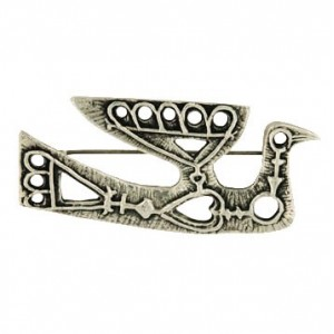 Toulhoat Curlew brooch 10g