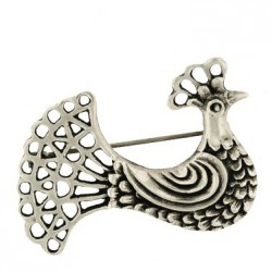 Toulhoat Hen brooch 7g