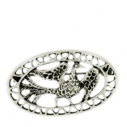 Toulhoat Oval bird brooch 4.8g