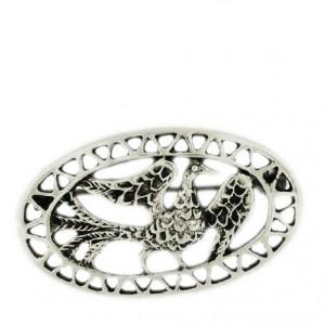 Toulhoat Oval bird brooch 4.8g