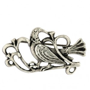 Toulhoat Retro bird brooch 6g