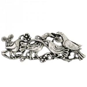 Broche Toulhoat 4 Oiseaux