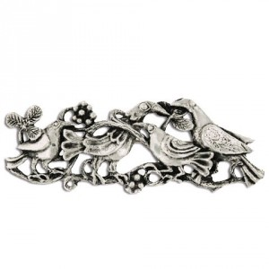 Toulhoat Four birds brooch 14g