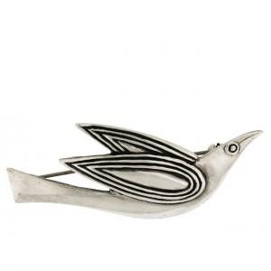 Toulhoat Cuckoo brooch 7g