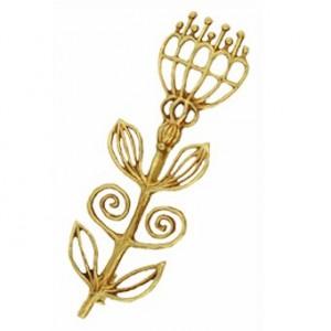 Toulhoat Ear of wheat brooch 8.3g