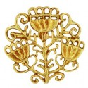 Toulhoat Round mixed brooch 8g