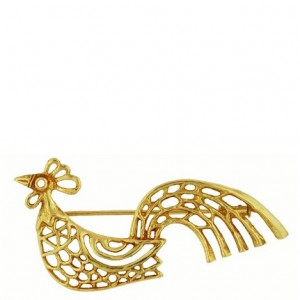 Toulhoat Lacey patern cockeral brooch 7g