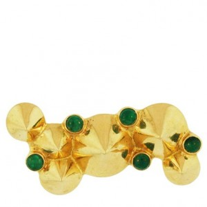 Toulhoat Emerald Peas Brooch 12g