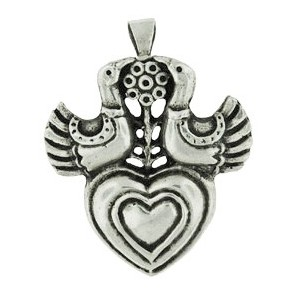 Broche Toulhoat Coeur aux Colombes