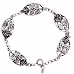 Bracelet Toulhoat Médailles Fleurs