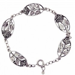 Toulhoat flower-in-medal bracelet 9g