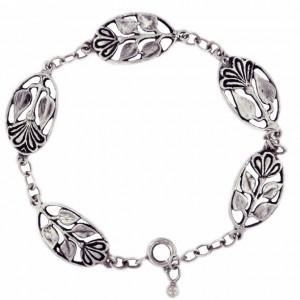 Toulhoat flower-in-medal bracelet 9g
