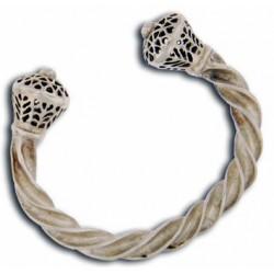 Toulhoat stamped Torque bracelet 47g