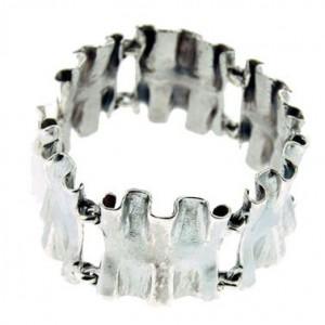 """Bracelet toulhoat en argent, modèle """"tuyauté"""", bijou celtique inspiré de la mer."""
