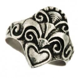 Bague celtique en argent bigouden, fabriquée en Bretagne, motif typiquement Breton
