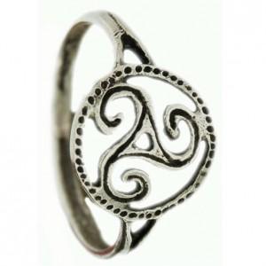 Bague triskel en argent, bijoux celtique Toulhoat