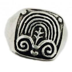 ram-horn signet ring 9g