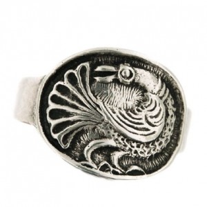 Toulhoat peacock ring 5.5g