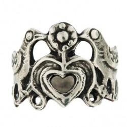 Bague celtique 2 oiseaux et un coeur, inspirée de la nature, c'est un bijou Toulhoat