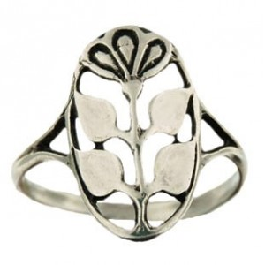 flower-in-medal ring 2.1g