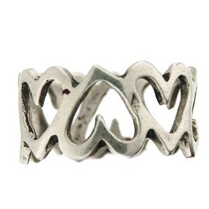 Toulhoat heart-chain ring 3.3g