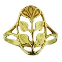 Toulhoat flower-in-medal ring 3.3g
