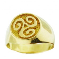Toulhoat Triskel signet ring 9.6g
