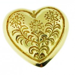 Toulhoat costume-heart small pendant 7.2g