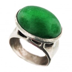 Toulhoat green agate ring 6.6g