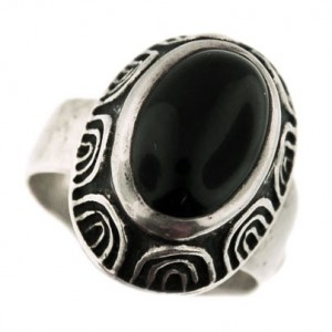 Toulhoat onyx ring 7.6g