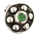 green agate shield ring 4.9g