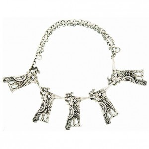 Toulhoat 5 birds necklace 37g
