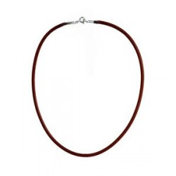 Cordon en cuir marron 1.5g