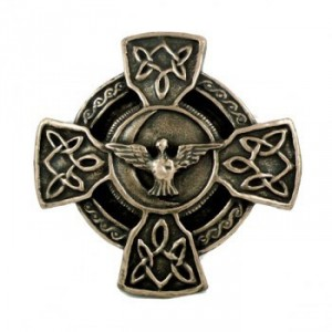 Celtic cross and peace prayer