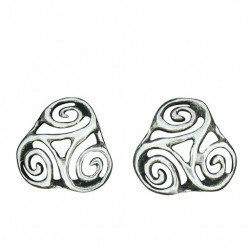 clip earrings open-worked triskel 3.1g