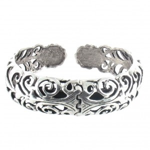 """Bracelet en argent celtique aux motifs de fleurs, inspiré de la nature """"clic-clac"""" fleur Toulhoat"""