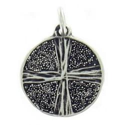 Médaille croix sur granulation